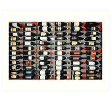 Bottles of Wine  Art Print