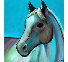"""Coloured Horse"" acrylic painting Photographic Print"