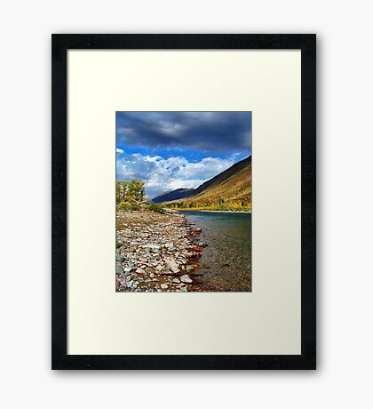 Glacier Park Autumn 3 (The Northfork) Framed Print