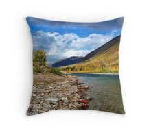 Glacier Park Autumn 3 (The Northfork) Throw Pillow