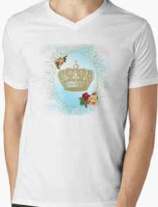 Shabby Chic Crown Mens V-Neck T-Shirt