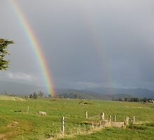 Rainbow, North Tasmania by Carol Peck