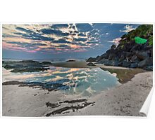 Froggy's beach sunrise Poster