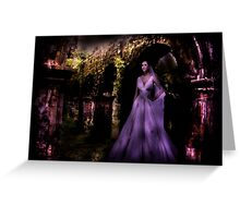 Bride in the moonlight Greeting Card