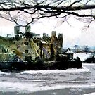 An Impressionist View of a Gaunt & Cold Leeds Castle by Dennis Melling