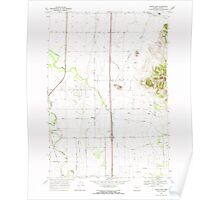 USGS Topo Map Oregon Indian Head 280291 1969 24000 Poster