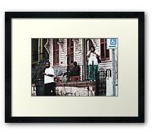 9th Ward Stoop Framed Print