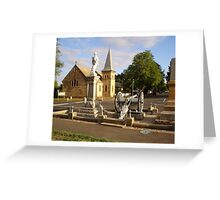 Cenotaph and Catholic Church, Ross Greeting Card