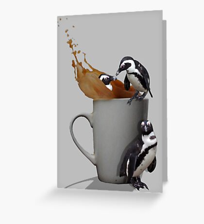 Tea Break - Pick up a Penguin Greeting Card