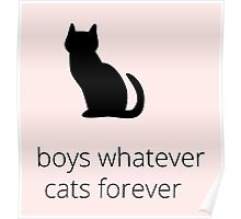 boys, whatever. cats, forever Poster