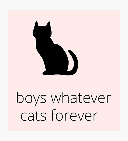 boys, whatever. cats, forever Photographic Print