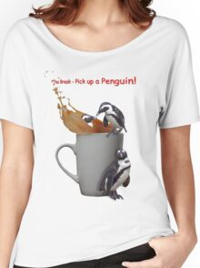Tea Break - Pick up a Penguin! Women's Relaxed Fit T-Shirt