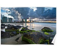 Coolangatta green and gold Poster