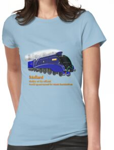 Mallard the Steam Locomotive Womens Fitted T-Shirt