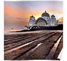 Strait of Malacca Mosque, Malacca, Malaysia Poster