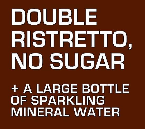 Double Ristretto, No Sugar by suranyami