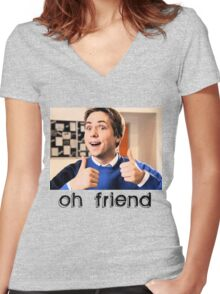 Oh Friend! Women's Fitted V-Neck T-Shirt