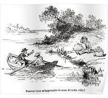 Achille Sirouy Mark Twain Les Aventures de Huck Huckleberry Finn illustration p166 Poster