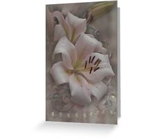 Romance and Flowers Greeting Card