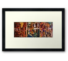 Rovinj - Croatia / Triptichon / original oil painting Framed Print