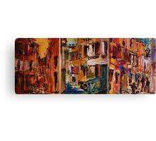 Rovinj - Croatia / Triptichon / original oil painting Canvas Print