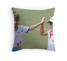 High Five partner Throw Pillow