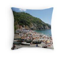 Italian beach Throw Pillow