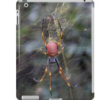 Yellow Web with Spider iPad Case/Skin