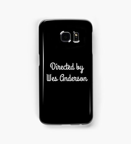 Directed by Wes Anderson (white) Samsung Galaxy Case/Skin