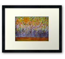 Orange Abstract Trees Framed Print