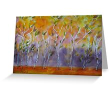Orange Abstract Trees Greeting Card