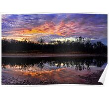 Cotton Candy Colored Sky Poster