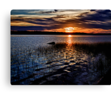 """Sunset On St. Mary""""s Bay Canvas Print"""