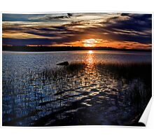 """Sunset On St. Mary""""s Bay Poster"""