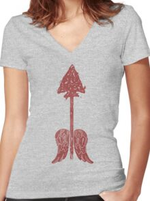 Arrow on the Doorpost Women's Fitted V-Neck T-Shirt