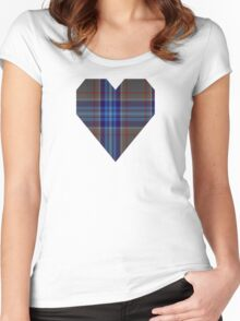 00845 West Coast WM 849-2 Tartan  Women's Fitted Scoop T-Shirt