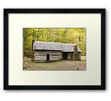 Ephraim Bales Cabin Framed Print