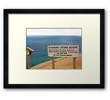 Sleeping Bear Dunes, Michigan, Again ~ A Notable Reality Framed Print