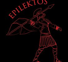 Roman Warrior Wielding Spear in Roman War Gear - Epilektos by epilektos