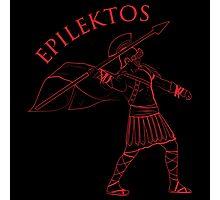 Roman Warrior Wielding Spear in Roman War Gear - Epilektos Photographic Print