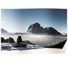 italian alps in winter Poster