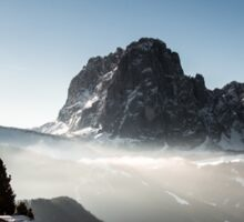 italian alps in winter Sticker