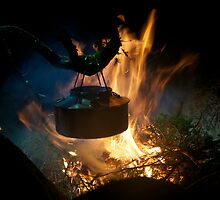 Coffee on open fire by Algot Kristoffer Peterson