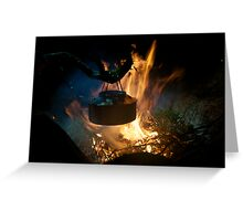 Coffee on open fire Greeting Card