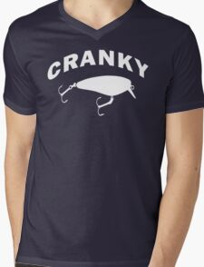CRANKY Mens V-Neck T-Shirt