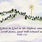 Merry Christmas  Luke 2:14 by Diane Hall