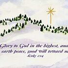 Merry Christmas  Luke 2:14 by Diane Hall