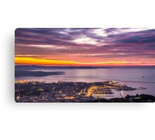 evening in the bay of Trieste Canvas Print