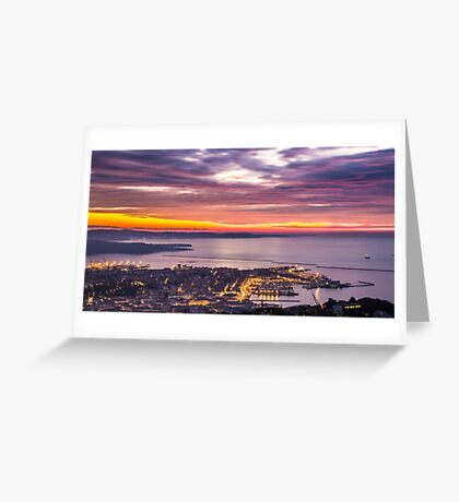 evening in the bay of Trieste Greeting Card