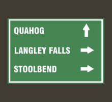 Quahog, Langley Falls and Stoolbend T-Shirt